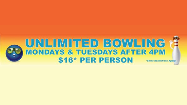 Unlimited Bowling ad
