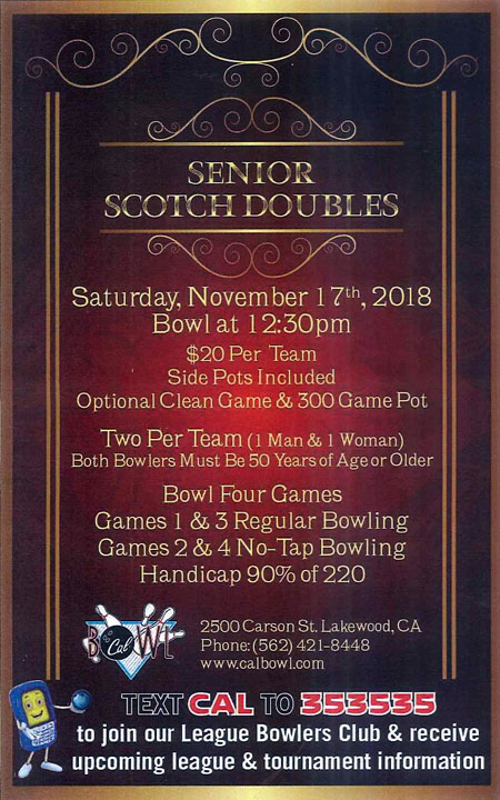 Sr. Scotch Doubles Tournament