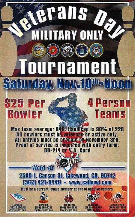 Veteran's Day Tournament